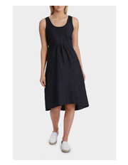 Jump - Sleeveless Hi/Lo Linen Dress