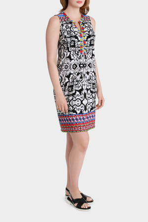 Jump - Sleeveless Swirl Print Dress