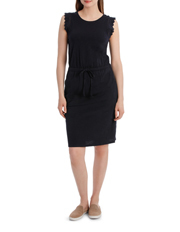 JAG - Lace Trim Tee Dress with Drawstring