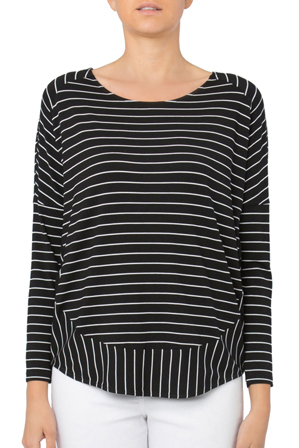 Gordon Smith - Stripe Jersey Relaxed Top