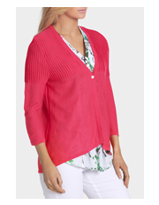 Yarra Trail - Ribbed Shoulder Buttoned Cardi