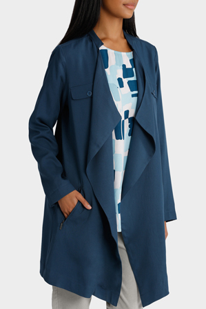 Yarra Trail - Drape Trench Coat