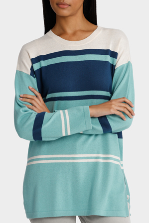 Yarra Trail - Long Sleeve Stripe Knit Jumper