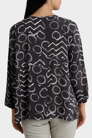 Yarra Trail - Long Sleeve Etched Print Shirt