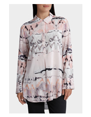 Yarra Trail Woman - Long Sleeve Blush Print Shirt