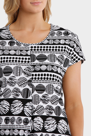 Yarra Trail - Abacus Print Dress