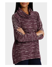 Yarra Trail - Long Sleeve Cowl Neck Panel Top