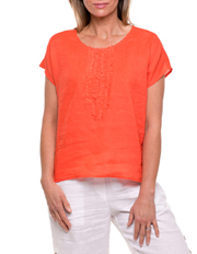 Yarra Trail - Short Sleeve Tuck Front Top