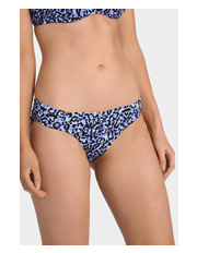 Cozi by Jennifer Hawkins - Blue Leopard Ruched Banded Pant