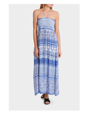 Piper - Summer Dreams Print Rouched Bodice Maxi Dress