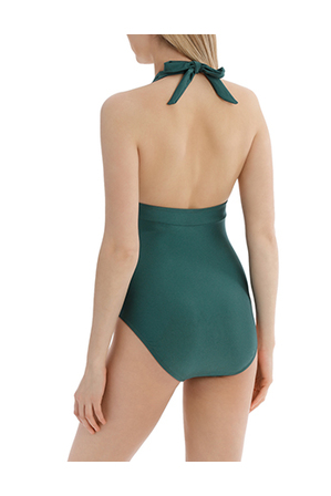 Piper - High Tri Halter One Piece Shimmer