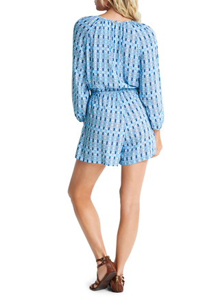 Seafolly - Textured Mini Print Playsuit