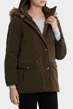 Fleet St - Chevron Quilted Puffer