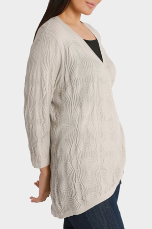 Yarra Trail Woman - Circle Jacquard Wrap Knit