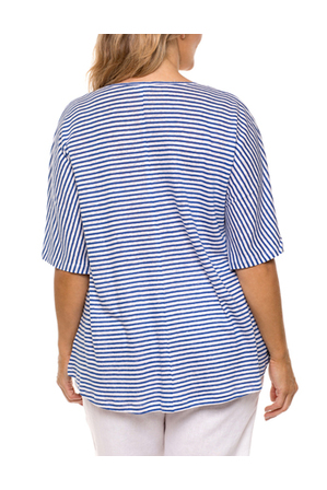 Yarra Trail Woman - Panelled Stripe Tee