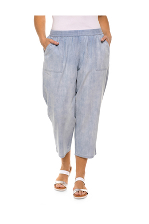 Yarra Trail Woman - Pull on Chambray Pant