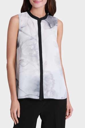 Jane Lamerton - Printed Placket Front Top