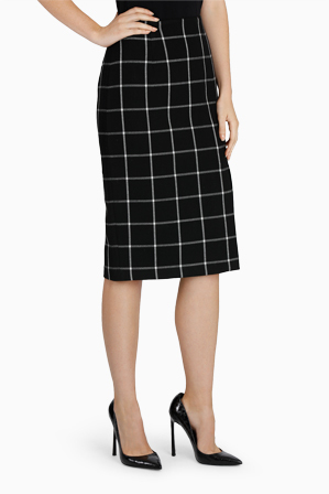 Jane Lamerton - Grid Print Skirt