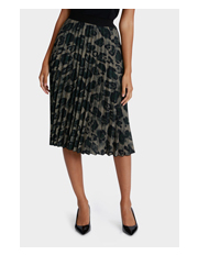 Jane Lamerton - Animal Print Pleated Skirt