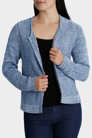 Regatta Petites - Tape Yarn Long Sleeve Cardigan