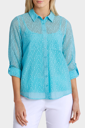 Regatta Petites - Essential Solid Burnout 3/4 Sleeve Shirt
