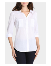 Regatta Petites - Basic Cotton 3/4 Sleeve Shirt