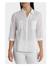 Regatta Petites - Must Have Foil Cotton 3/4 Sleeve Shirt