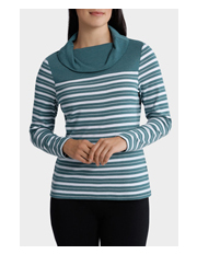 Regatta Petites - Stripe Roll Neck Long Sleeve Sweat Top