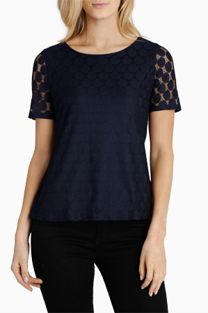 Regatta Petites - Lace Short Sleeve Tee