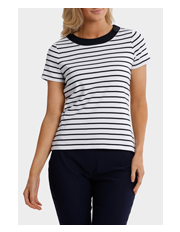 Essential Duo Stripe Short Sleeve Tee