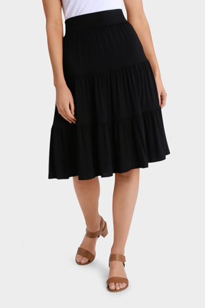 Regatta Petites - Ruched Tiered Skirt