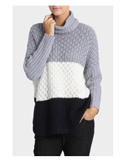 Trent Nathan - Tri Colour Roll Neck Jumper