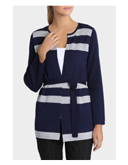 Trent Nathan - Stripe Two Tone Oversized Cardigan
