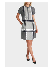 Trent Nathan - Graphic Scarf Print Shirt Dress