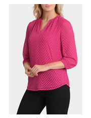 Regatta - Dobby Square Solid 3/4 Sleeve Top