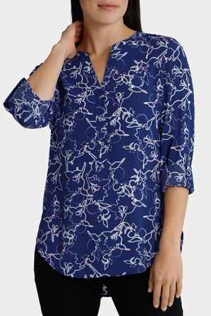 Regatta - Abstract Floral Printed 3/4 Sleeve Top