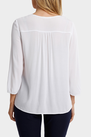 Regatta - Solid Embroidered Neck 3/4 Sleeve Top