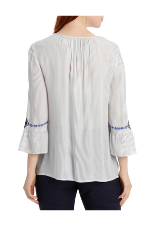 Regatta - Embroidered Peasent 3/4 Sleeve Top