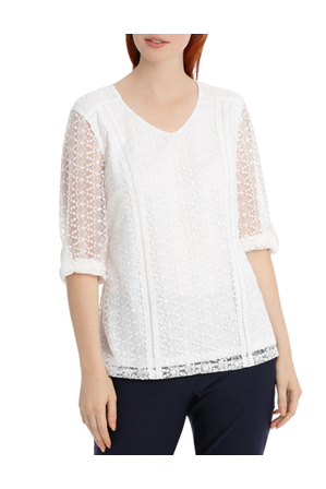 Regatta - Lace Detail 3/4 Sleeve Top