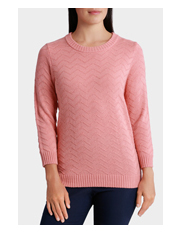 Regatta - Essential Zz Textured 3/4 Sleeve Jumper