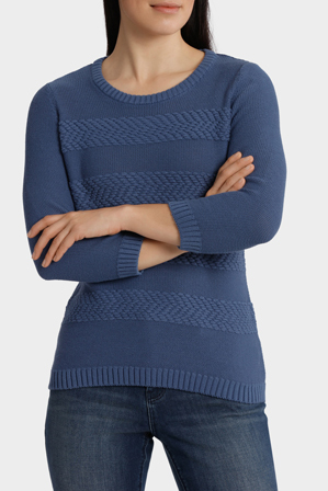 Regatta - Essential Stripe Texture 3/4 Sleeve Jumper