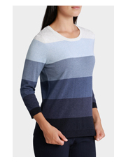 Regatta - Tonal Stripe 3/4 Sleeve Jumper