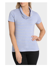 Regatta - Stripe Cowl Neck Short Sleeve Tee