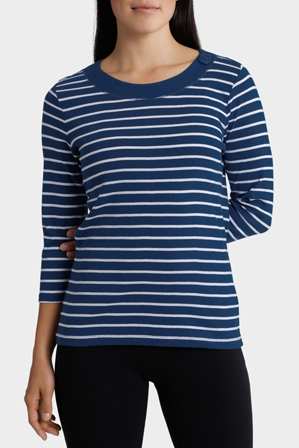Regatta - Essential Duo Stripe 3/4 Sleeve Tee