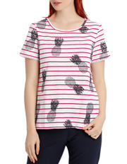 Regatta - Stripe Pineapple Cotton Tee