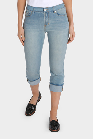 Regatta - Essential Slim Leg Crop Cuff Jean