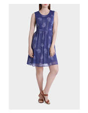 Regatta - Printed Pleated Metallic Dress