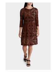 Regatta - Tile Print Elbow Sleeve Jersey Dress