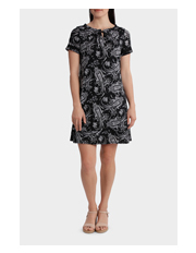 Regatta - Monotone Paisley Mesh Short Sleeve Dress