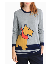 Hi There From Karen Walker - Scotty Dog Novelty Knit